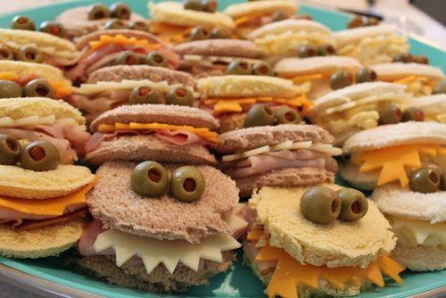 Idea para servir aperitivos en una fiesta de cumpleaños