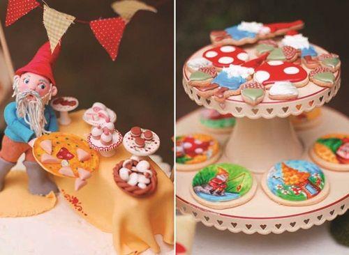 Fiesta de cumpleaños de gnomos de jardín