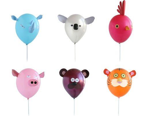 Genial idea para crear globos con caras de animales