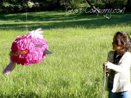 Piñata fácil de papel crépe para hacer en casa