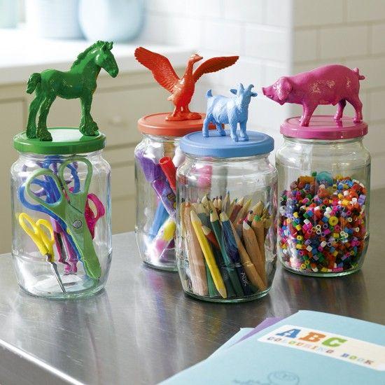 Manualidad para hacer con niños: tarros con animales