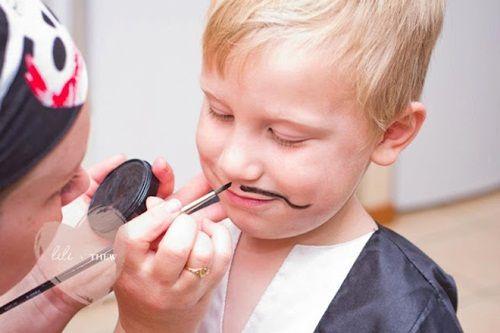 fiesta pirata, el maquillaje