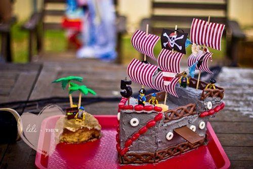 fiesta pirata, la tarta