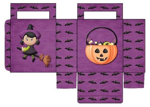 Cajas de caramelos imprimibles para Halloween