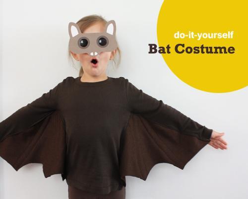 Disfraz casero para Halloween: un cómodo murciélago