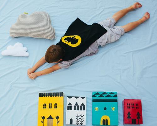 Divertirse haciendo fotos: Los superhéroes en casa!!