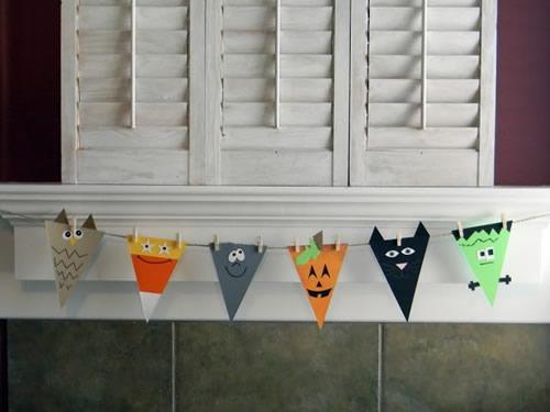 Decoración con niños: guirnaldas para Halloween