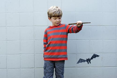 Manualidad especial Halloween: marioneta murciélago