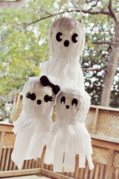 Piñata especial Halloween: fantasmas que esconden un tesoro…