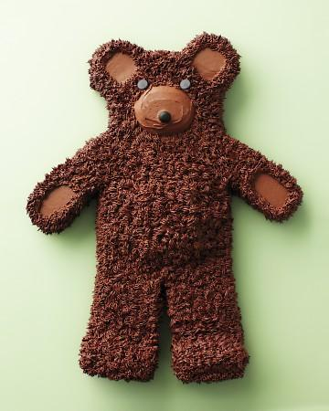 Tarta de chocolate en forma de oso