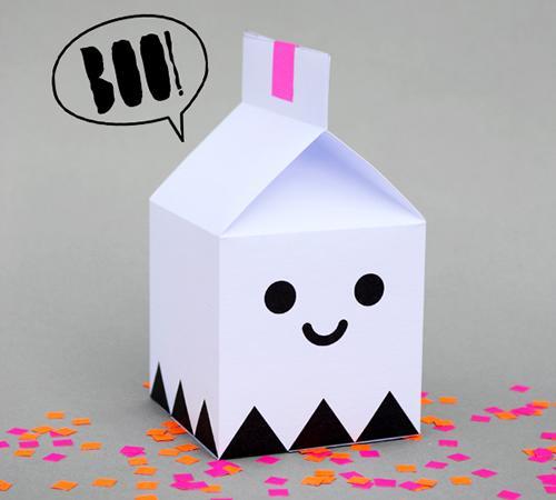 Preparando Halloween: cajas fantasma para las golosinas