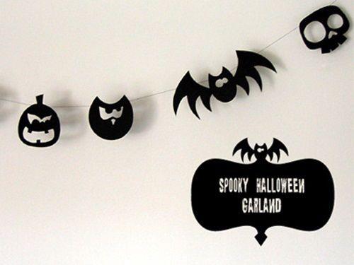 Guirnalda de Halloween fácil y económica