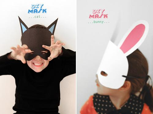 DIY: máscaras para Halloween o fiestas infantiles