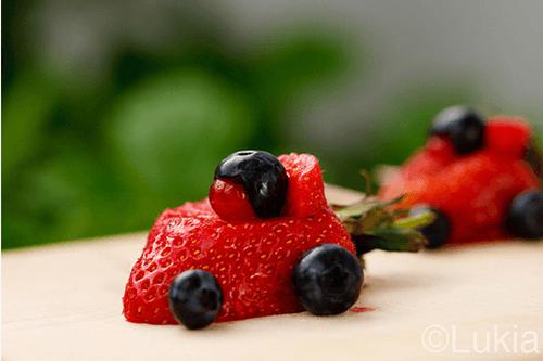 Meriendas divertidas con fruta para los niños