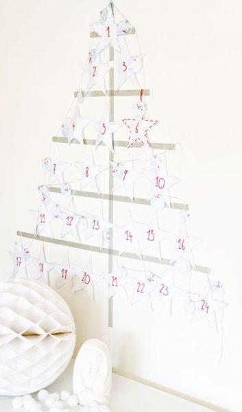 Idea para la Navidad: calendario de Adviento de papel