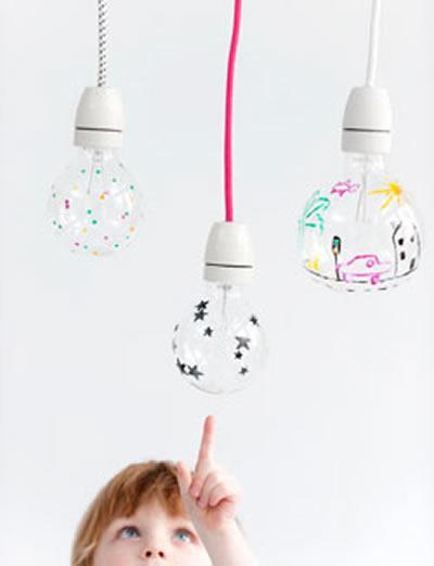 Decoración: Crea tu propia lámpara decorando la bombilla