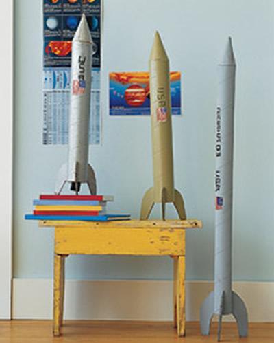 Manualidades con niños: espectaculares cohetes