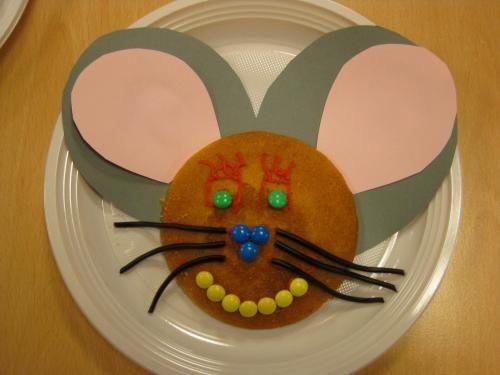 Receta de merienda creativa con forma de ratón
