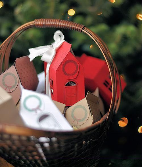 Casitas sorpresa para felicitar la Navidad