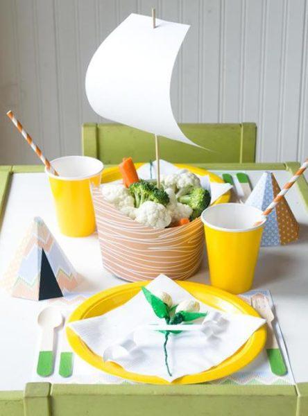 Imprimible: toque marinero en la mesa