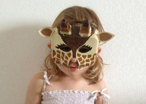 DIY, careta de jirafa para Carnaval