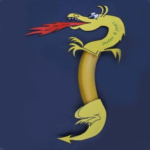 Idea inspiradora, vestir un plátano de dragón