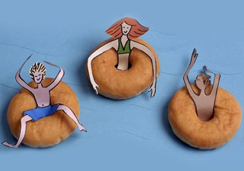 Flotadores de donuts para fiestas infantiles!