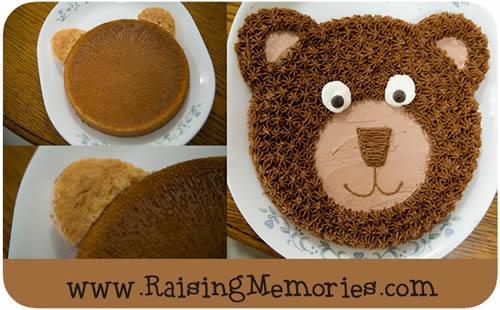Tarta de cumpleaños del osito Teddy