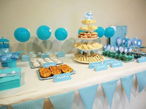 Cumpleanos De Bebe 1 Ano En Azul