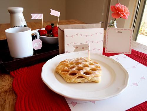 Imprimible para el desayuno de San Valentín