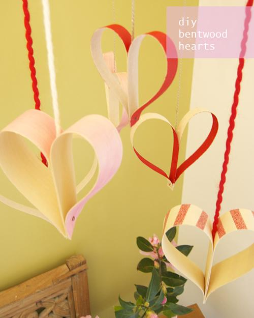 DIY: móviles de corazones para San Valentín
