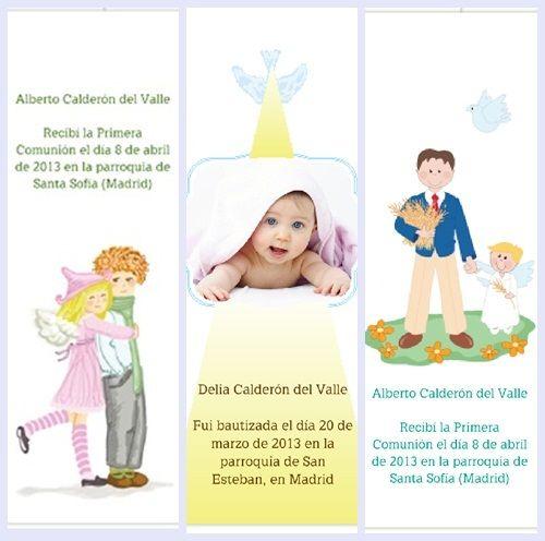Invitaciones y tarjetas personalizadas para bebés y Comunión (2)