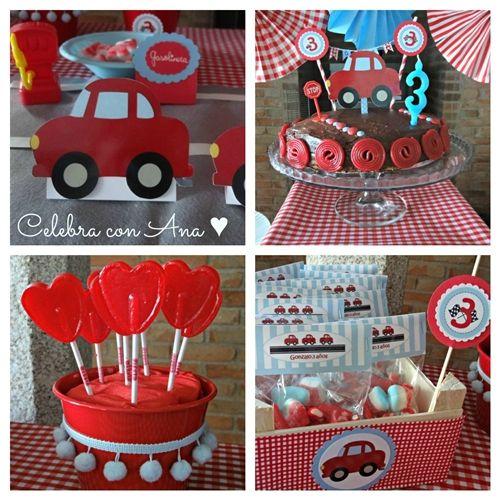 fiesta de cumple coches rojos 3