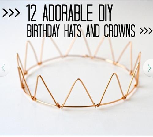 Coronas y gorros para fiestas infantiles