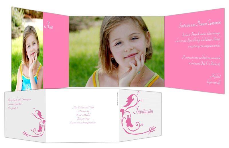 Invitaciones y tarjetas personalizadas para bebés y Comunión