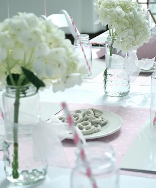 Decoración de la mesa en una fiesta bailarinas de ballet