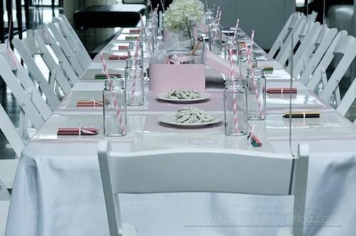 Decorar la mesa para una fiesta de bailarinas