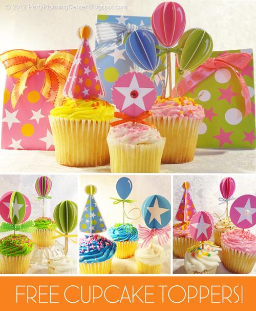 Imprimibles para adornar los cupcakes