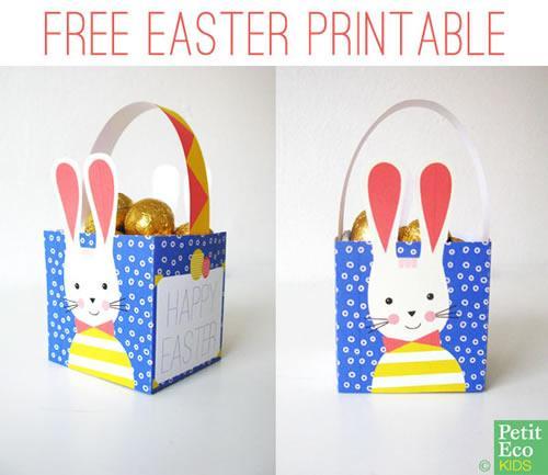Imprimible, cajita del conejo de Pascua para montar