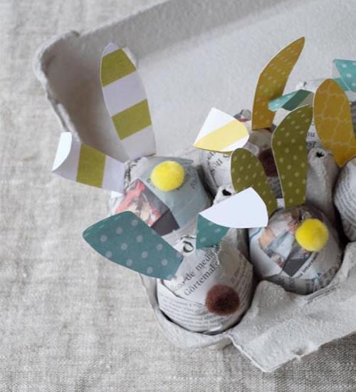 Decoración rápida de huevos de Pascua