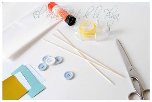 piruletas de papel DIY para decorar fiestas 1