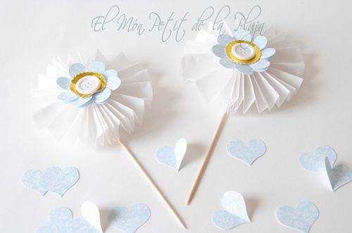 Piruletas de papel DIY para decorar fiestas