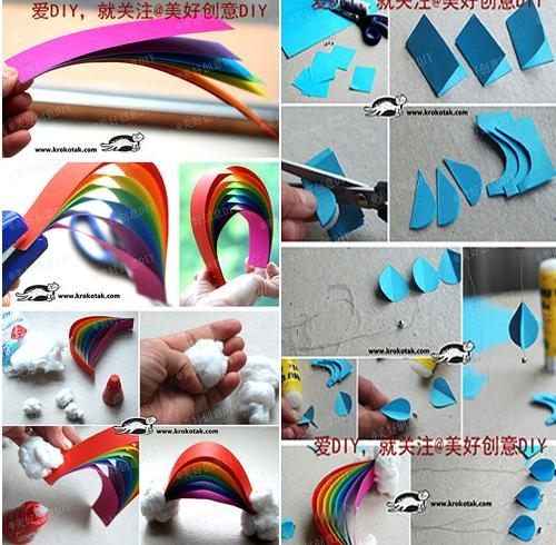 Manualidad-con-niños-movil-arco-iris4