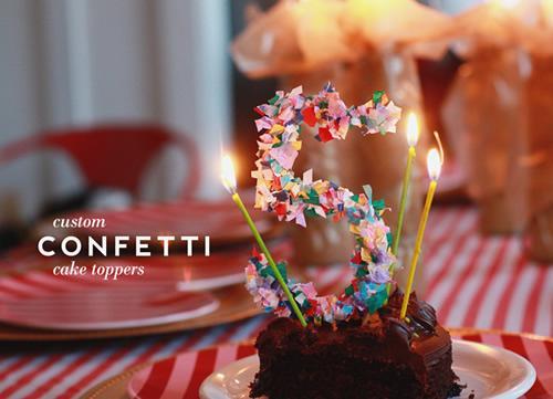 Original número para la tarta de cumpleaños
