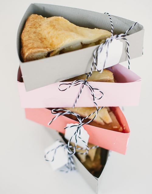 Descargables, cajitas para porciones de tarta