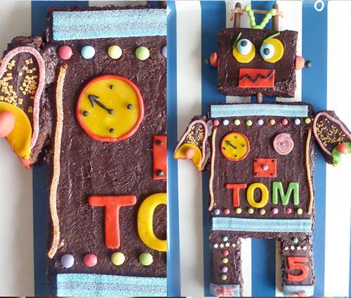 Fiesta de cumpleaños temática de robots