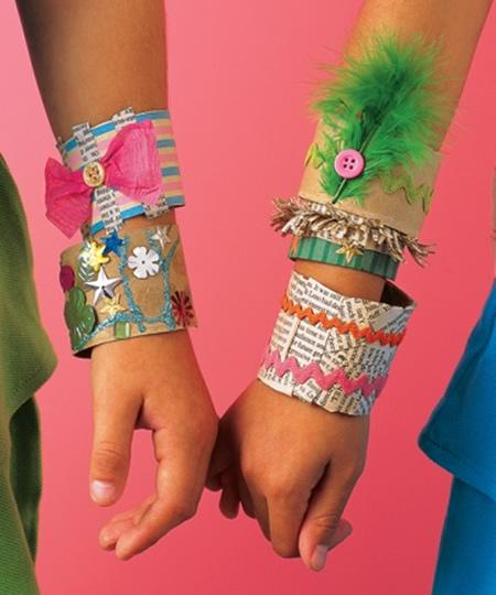 Como hacer pulseras superchulas para niñas reciclando