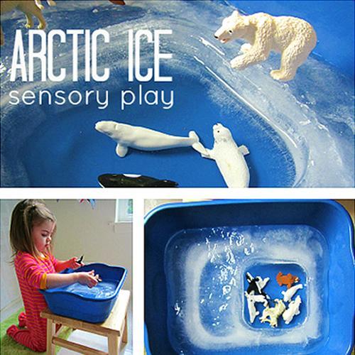 Crear el Ártico con hielo para jugar con los animales