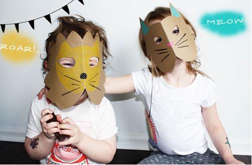 Rápidas caretas de animales para niños