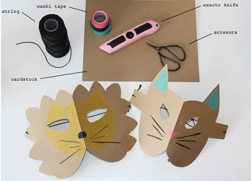 manualidades-niños-mascaras-cartulina-leon-gato2
